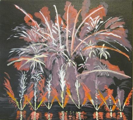 Fireworks acrylic on canvas