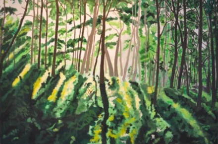 Shohola Woods 2011 acrylic on canvas 24x36in